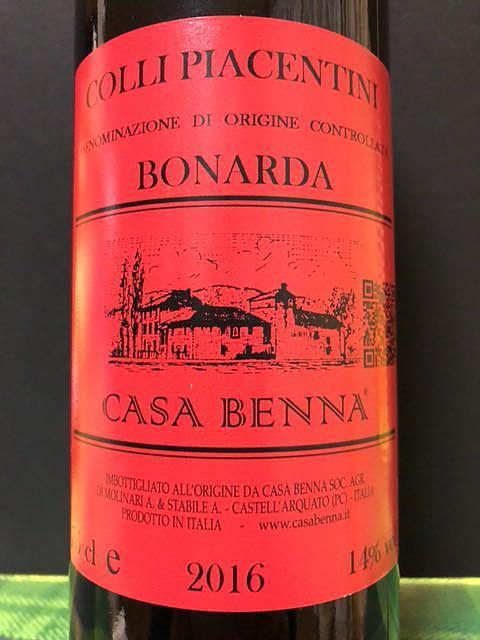 Casa Benna Colli Piacentini Bonarda Ferma(カーサ・ベンナ コッリ・ピアチェンティーニ ボナルダ フェルマ)