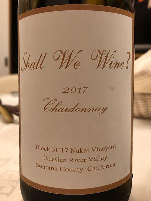 Shall We Wine? Chardonnay Block 5C17 Nakai Vineyard(シャル・ウィー・ワイン シャルドネ)