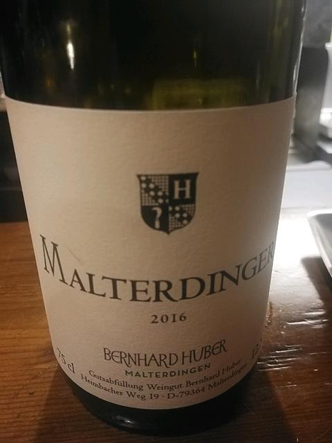 Bernhard Huber Malterdinger Weisser Burgunder Chardonnay(ベルンハルト・フーバー マルターディンガー ヴァイサー・ブルグンダー シャルドネ)