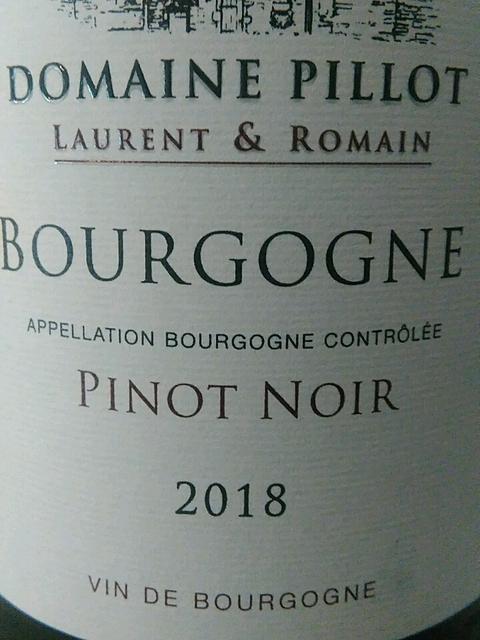 Dom. Pillot Laurent & Romain Bourgogne Pinot Noir(ドメーヌ・ピヨ ローラン・エ・ロマン ブルゴーニュ ピノ・ノワール)