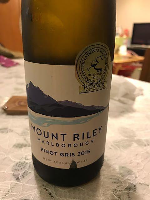 Mount Riley Estate Pinot Gris(マウント・ライリー エステート ピノ・グリ)