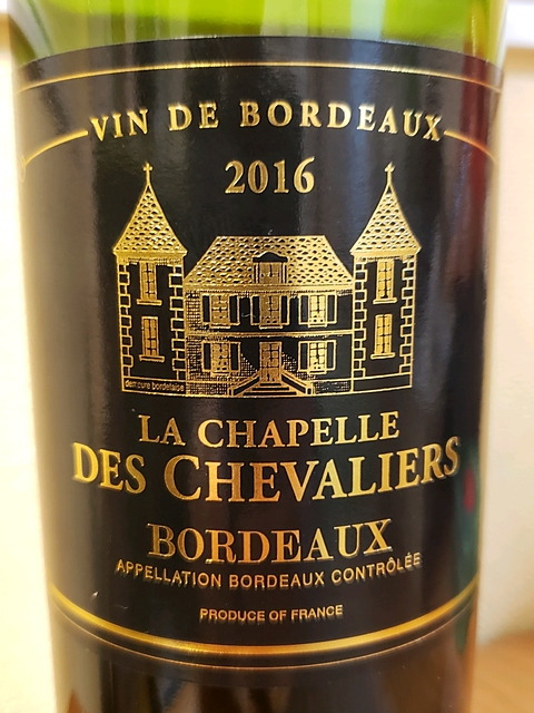 La Chapelle des Chevaliers Bordeaux Rouge