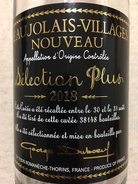Georges Duboeuf Beaujolais Villages Nouveau Sélection Plus