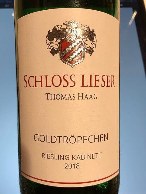 Schloss Lieser Piesporter Goldtröpfchen Riesling Kabinett(シュロス・リーザー ピースポーター・ゴールドトレプヒェン リースリング カビネット)