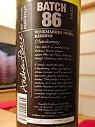 ワインメーカーズ・ノート・バイ・アンドリュー・ピース バッチ・86