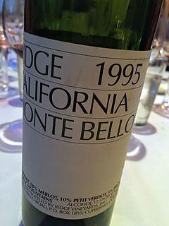 Ridge Monte Bello 1995(リッジ モンテ・ベロ)