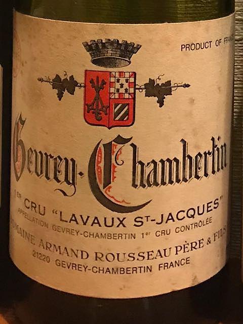 Dom. Armand Rousseau Gevrey Chambertin 1er Cru Lavaux St. Jacques