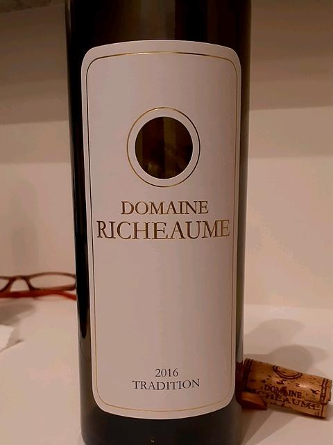 Dom. Richeaume Tradition Rouge 2016(ドメーヌ・リショーム トラディション ルージュ)