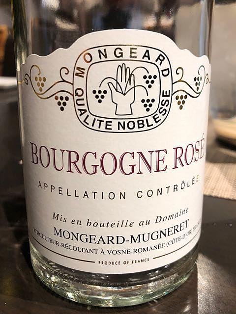 Mongeard Mugneret Bourgogne Rosé(モンジャール・ミュニュレ ブルゴーニュ ロゼ)