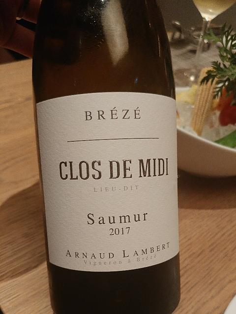 Arnaud Lambert Ch. de Brézé Clos de Midi(アルノー・ランベール シャトー・ド・ブレゼ クロ・ド・ミディ)