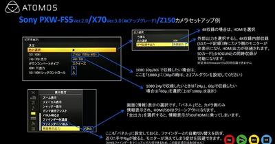 外部レコーダー使用時のカメラ設定紹介  [その1 ] Sony 編