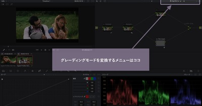 [DaVinci] グループとタイムラインのグレーディングツールを使って爆速作業する!