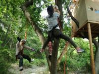 木に登ってみよう!(イベント) ~ロープを使えばスイスイ登れる!~