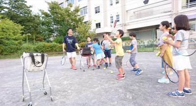 テニスコーチボランティア募集