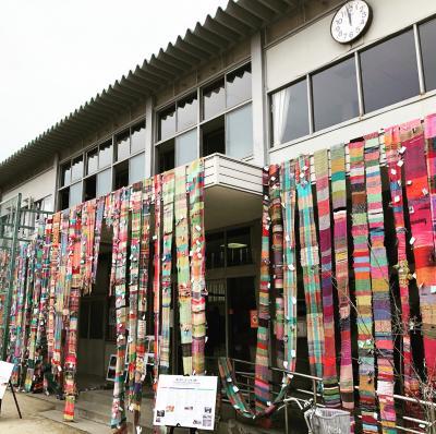 12/26撤去作業 被災地をつなぐさをり織りin甲子園2020-2021 展示ボラ...