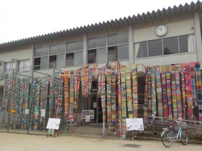 12/26展示作業  被災地をつなぐさをり織りin甲子園2020-2021 展示ボラ...