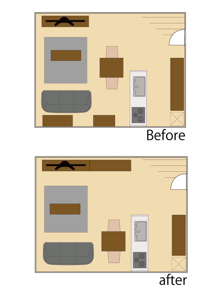 家具整理整頓図