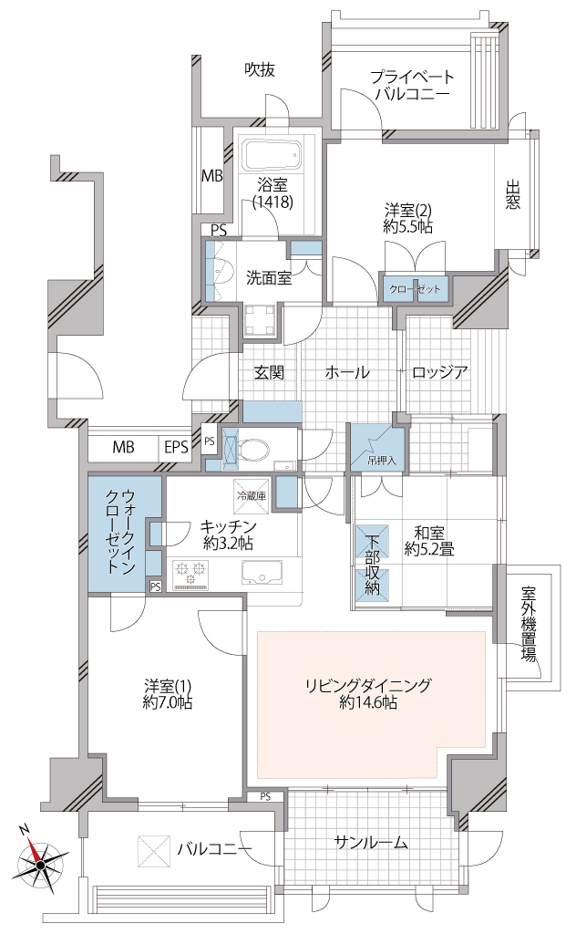 和室が小上り2