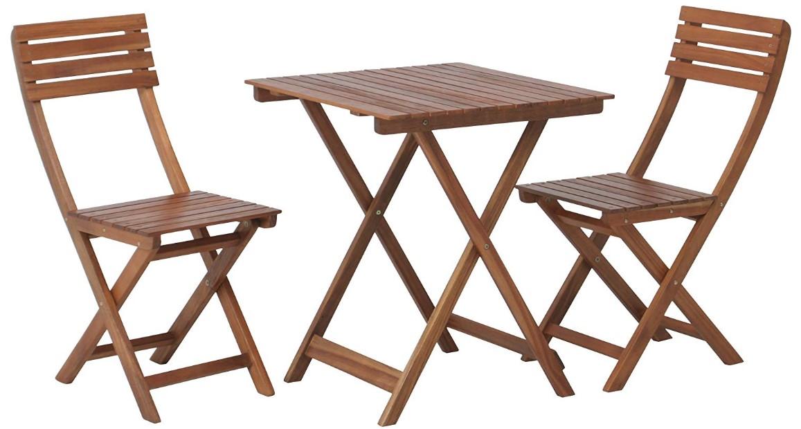 簡易式テーブルとイス