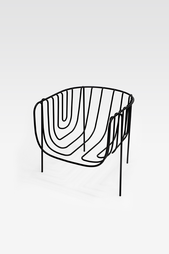 thin black lines18-chair