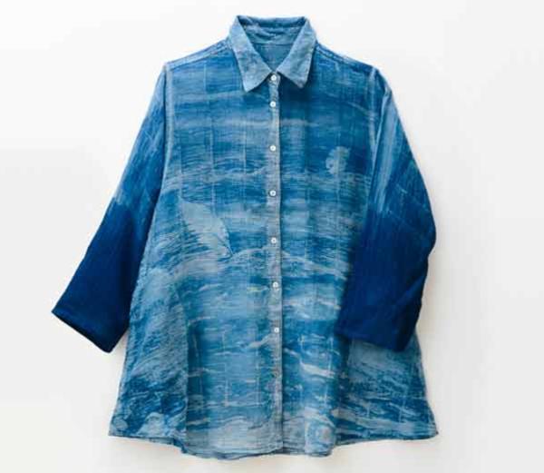 ジョーゼットブラウス(georgette blouse)|武州正藍染め 石織商店(ISHIORI SHOUTEN)
