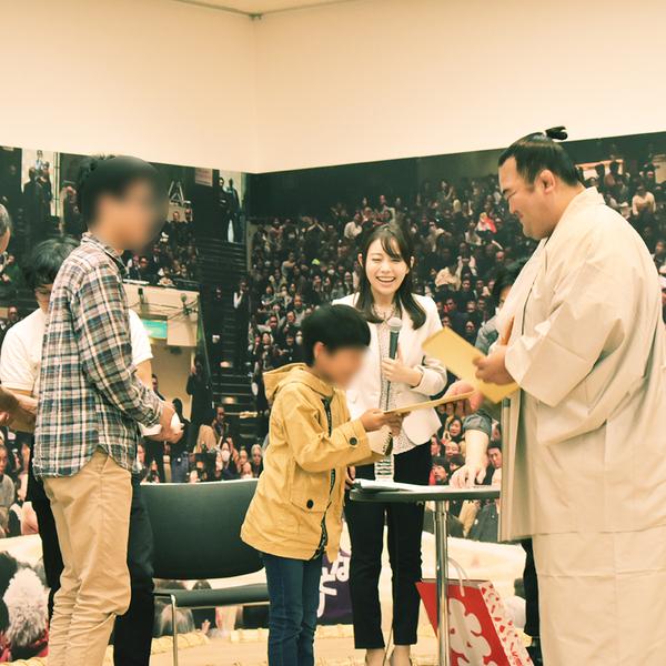 2019/11/4 琴奨菊関 来場!