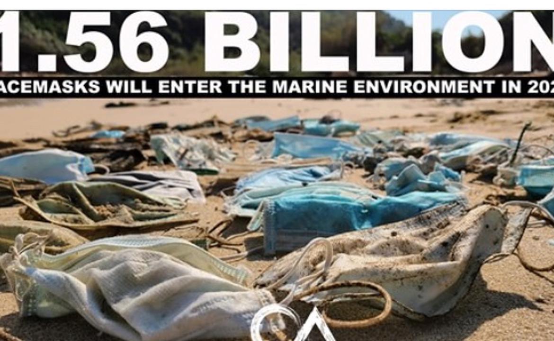 15億廢棄口罩入海 !