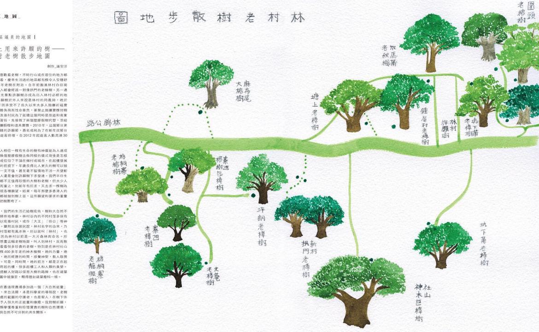 給區議員的地圖:不止用來許願的樹——林村老樹散步地圖