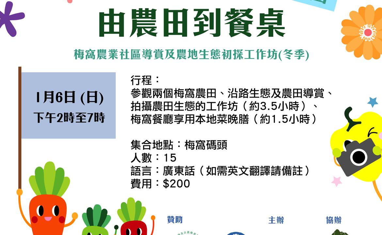 環保基金「梅窩 Farm to Table 農業社區」計劃—細味梅窩 由農田到餐桌(6.1.2019)
