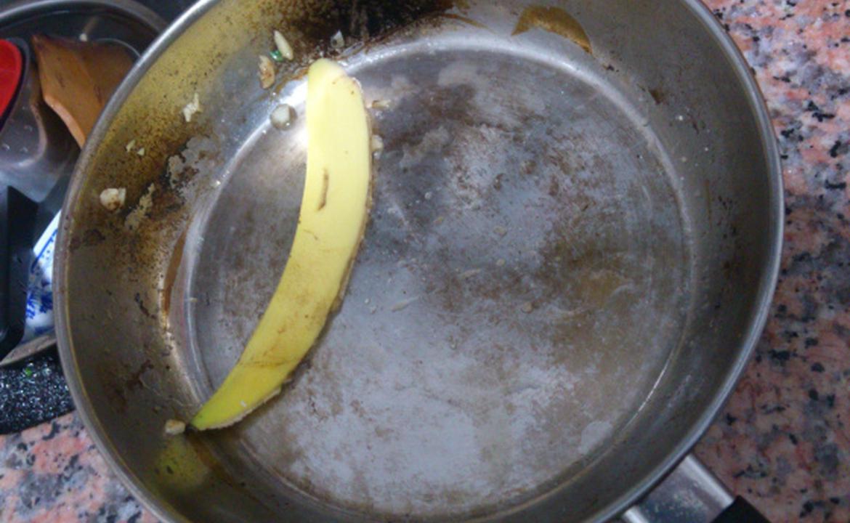 【用途測試】 茶包蕉皮去油~