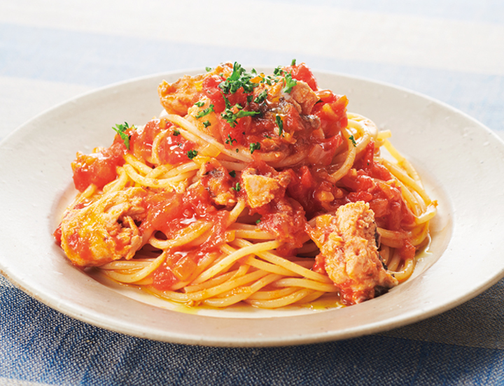 缶 パスタ トマト