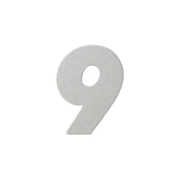 No.395ボードネームカードDC 数字9シルバー