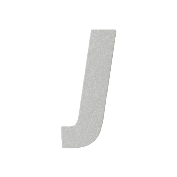 No.395ボードA7カードDC 文字Jシルバー