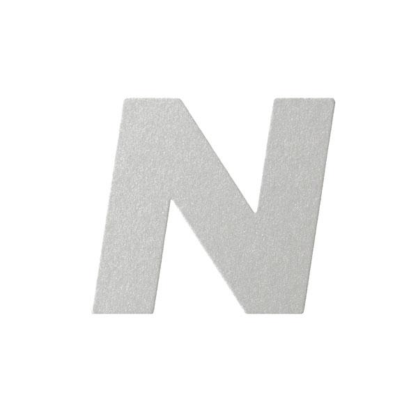 No.395ボードA7カードDC 文字Nシルバー