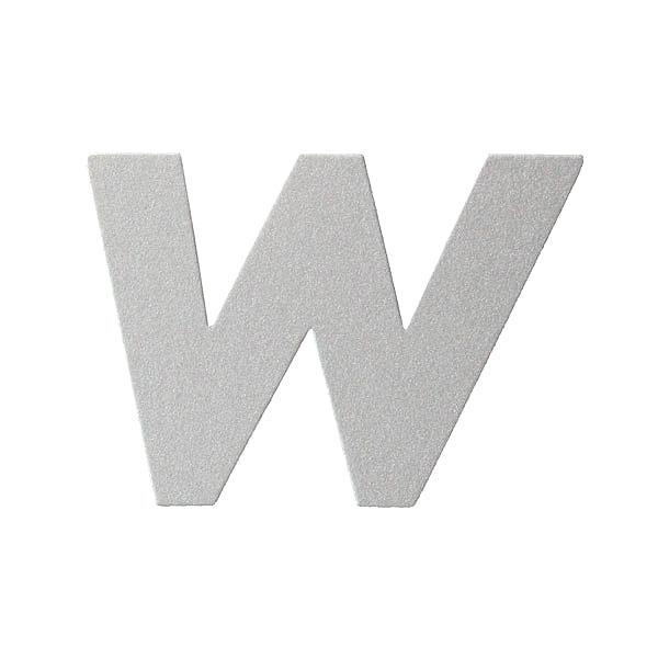 No.395ボードA7カードDC 文字Wシルバー