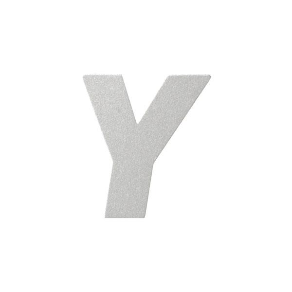 No.395ボードA7カードDC 文字Yシルバー