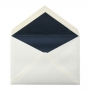 No.57コットン 洋2ダイア二重封筒ミッドナイトブルー