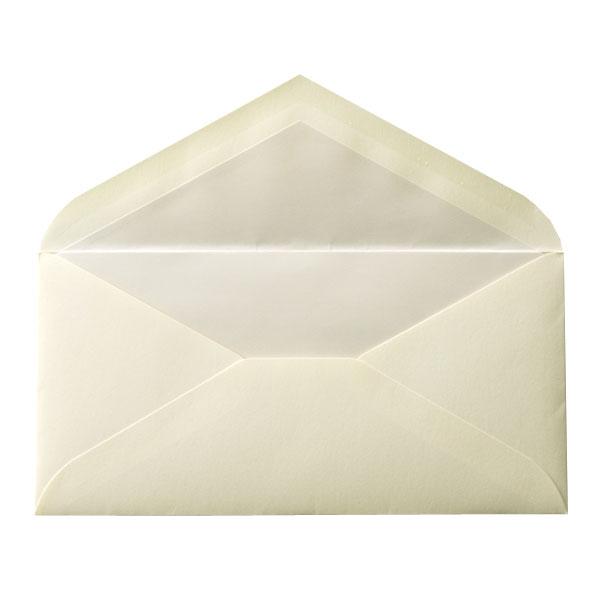DLダイア二重封筒 コットン ナチュラル パール