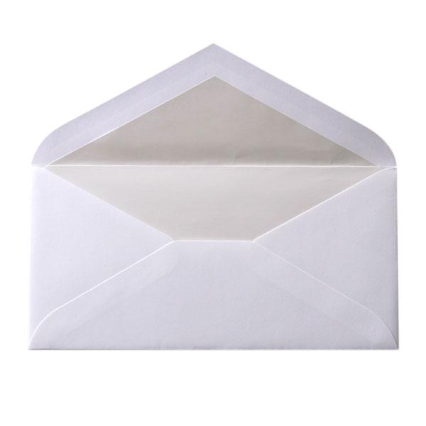 DLダイア二重封筒 コットン スノーホワイト パール