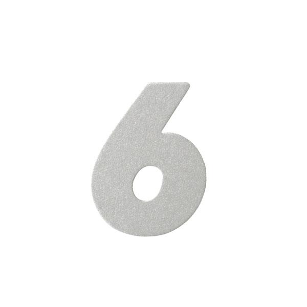 No.395ボードネームカードDC 数字6シルバー