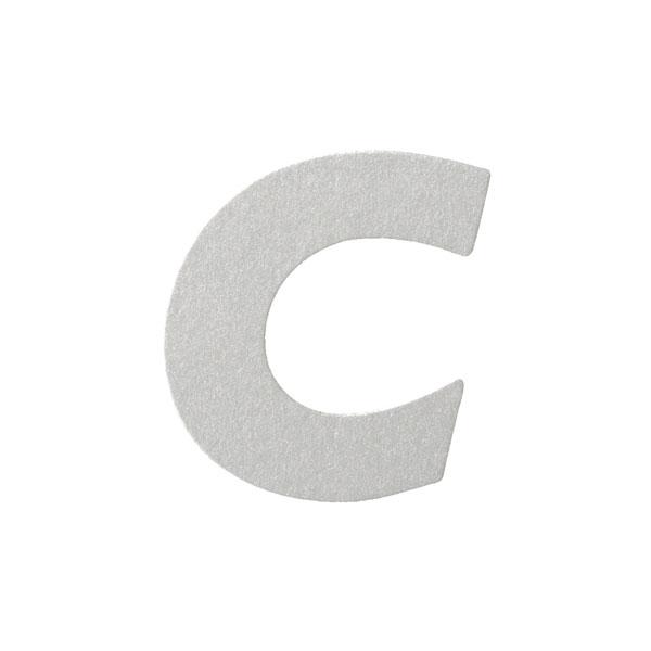No.395ボードA7カードDC 文字Cシルバー