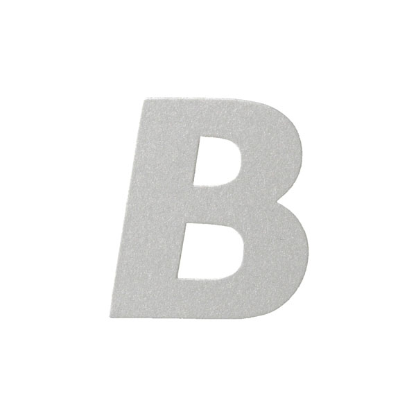 No.395ボードA7カードDC 文字Bシルバー