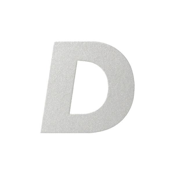 No.395ボードA7カードDC 文字Dシルバー