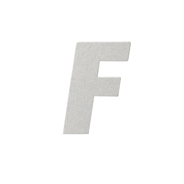No.395ボードA7カードDC 文字Fシルバー