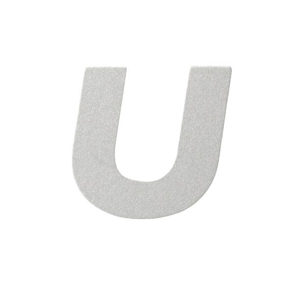 No.395ボードA7カードDC 文字Uシルバー