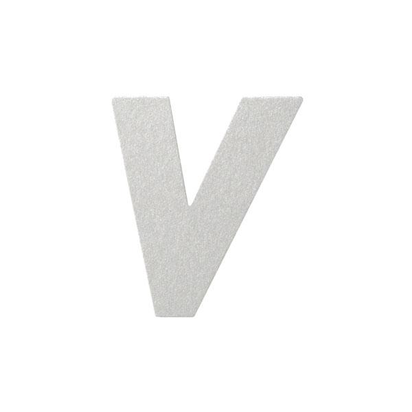 No.395ボードA7カードDC 文字Vシルバー