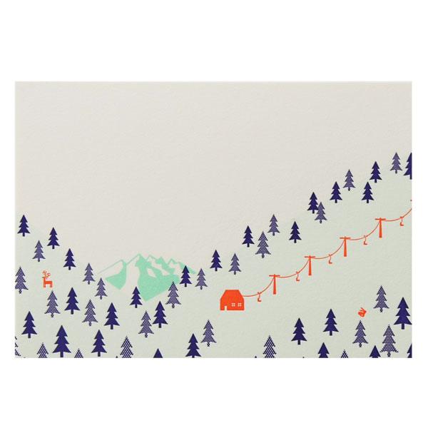 No.710雪山Pカード
