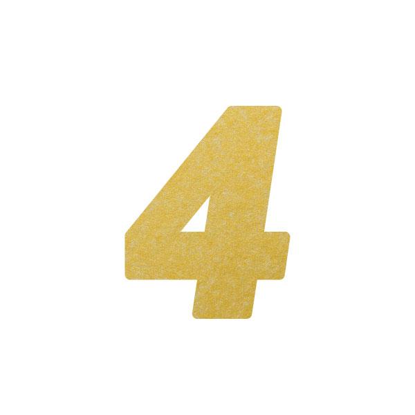No.395ボードネームカードDC 数字4ゴールド