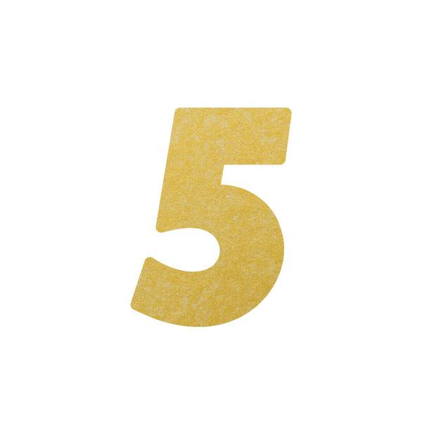 No.395ボードネームカードDC 数字5ゴールド