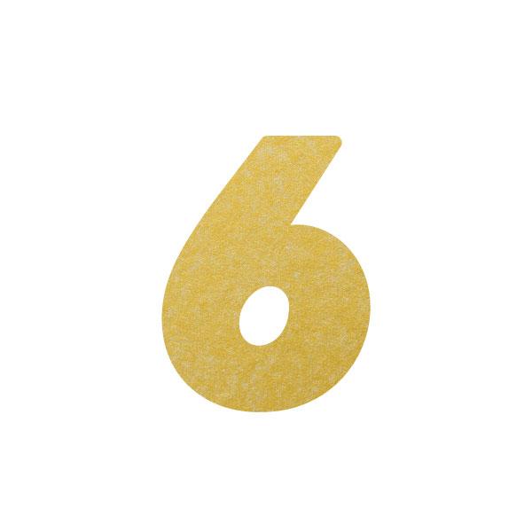 No.395ボードネームカードDC 数字6ゴールド
